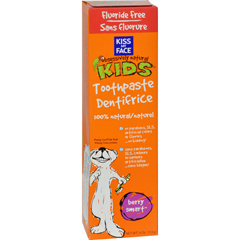 HGR0456822 - Kiss My Face - Kids Toothpaste Fluoride Free Berry Smart - 4 oz