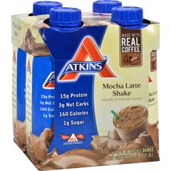 HGR0457929 - AtkinsAdvantage RTD Shake Mocha Latte - 11 fl oz Each / Pack of 4