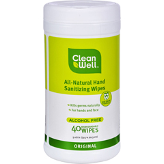 HGR0459743 - CleanWellAll-Natural Hand Sanitizing Wipes Original - 40 Wipes