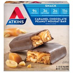 HGR0467225 - AtkinsAdvantage Bar Caramel Chocolate Peanut Nougat - 5 Bars