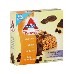 HGR0467282 - AtkinsDay Break Bar - Chocolate Chip Crisp - 5 Bars
