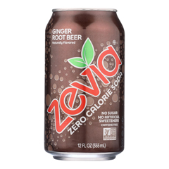 HGR0467522 - Zevia - Soda - Zero Calorie - Ginger Root Beer - Can - 6/12 oz.. - case of 4