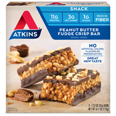 HGR0467548 - Atkins - Peanut Butter Fudge Crisp Bar - 5 Bars