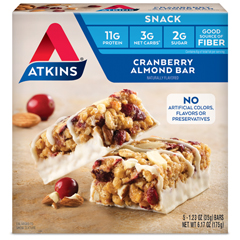 HGR0467563 - AtkinsDay Break Bar Cranberry Almond - 5 Bars