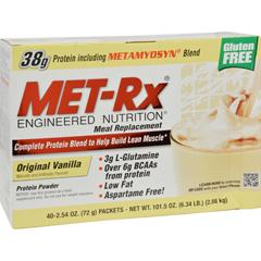 HGR0468165 - Met-RxMeal Replacement - Vanilla - 40 Pack