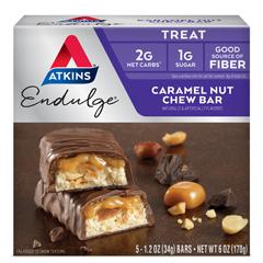 HGR0470120 - AtkinsEndulge Bar Caramel Nut Chew - 5 Bars