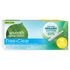 HGR0480319 - Seventh GenerationFree & Clear Tampons - Regular with Applicator - 192/CS