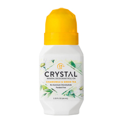 HGR0486407 - CrystalMineral Deodorant Roll-On Chamomile and Green Tea - 2.25 fl oz