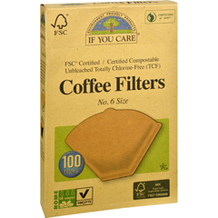 HGR0486431 - If You CareCoffee Filters - Brown - Cone - Number 6 - 100 Count