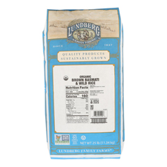 HGR0489575 - Lundberg Family Farms - Rice - Basmati Brown and Wild Rice Blend - Case of 25 - #