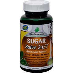 HGR0489682 - American Bio-Sciences SUGAR Solve 24-7 - 60 Softgels