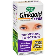 HGR0496190 - Nature's WayGinkgold Eyes - 60 Tablets