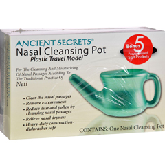 HGR0499863 - Ancient SecretsNasal Cleansing Neti Pot - Plastic - 1 Pot