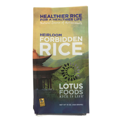 HGR0508895 - Lotus Foods - Heirloom Forbidden Black Rice - Case of 6 - 15 oz.