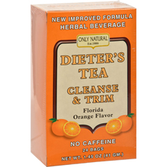 HGR0525634 - Only NaturalDieters Tea Cleanse and Trim Orange - 24 Tea Bags