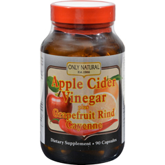 HGR0526178 - Only NaturalApple Cider Vinegar Plus GrapeFruit Rind and Cayenne - 500 mg - 90 Capsules