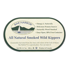 HGR0530519 - Bar Harbor - Smoked Wild Kippers - Case of 12 - 6.7 oz..