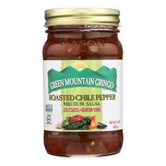 HGR0537688 - Green Mountain Gringo - Roasted Salsa - Chile Pepper - Case of 12 - 16 oz..