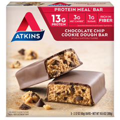 HGR0539635 - Atkins - Advantage Bar Chocolate Chip Cookie Dough - 5 Bars