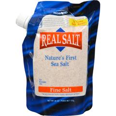 HGR0546770 - Real SaltNatures First Sea Salt Fine Salt - 26 oz - Case of 12