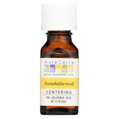 HGR0548313 - Aura CaciaPrecious Essentials Sandalwood Blended with Jojoba Oil - 0.5 fl oz