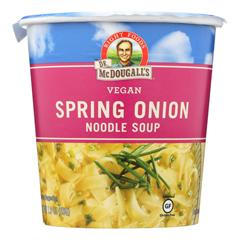 HGR0548784 - Dr. Mcdougall's - Vegan Spring Onion Noodle Soup Big Cup - Case of 6 - 1.9 oz..
