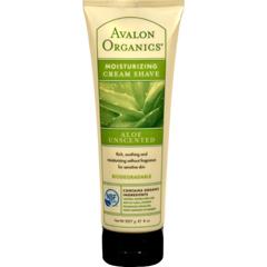 HGR0556332 - AvalonOrganics Moisturizing Cream Shave Aloe Unscented - 8 fl oz