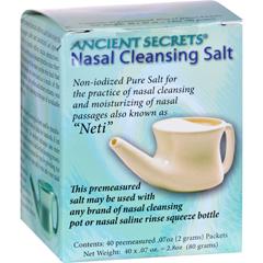 HGR0561407 - Ancient SecretsNasal Cleansing Salt Packets - 40 Packets