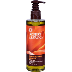 HGR0561431 - Desert EssenceThoroughly Clean Face Wash with Eco Harvest Tea Tree Oil And Sea Kelp - 8.5 fl oz