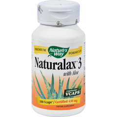 HGR0564021 - Nature's WayNaturalax 3 with Aloe - 100 Vegetarian Capsules