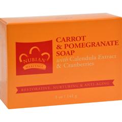 HGR0566232 - Nubian HeritageBar Soap Carrot And Pomegranate - 5 oz