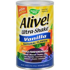 HGR0572776 - Nature's WayAlive Soy Protein Ultra-Shake Vanilla - 21 oz