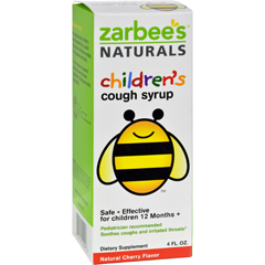 HGR0574335 - Zarbee'sAll-Natural Childrens Cough Syrup 12 Months+ - Natural Cherry Flavor - 4 oz