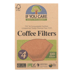 HGR0574400 - If You Care - #4 Cone Coffee Filters - Brown - Case of 12 - 100 Count
