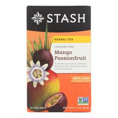 HGR0575233 - Stash Tea - Passionfruit Herbal?Tea - Mango - Case of 6 - 20 Count