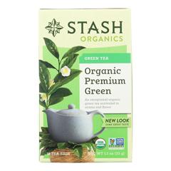 HGR0575399 - Stash Tea - Organic - Green - Premium - 18 Bags - Case of 6