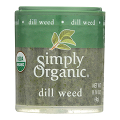 HGR0578575 - Simply Organic - Dill Weed - Organic - .14 oz.. - Case of 6