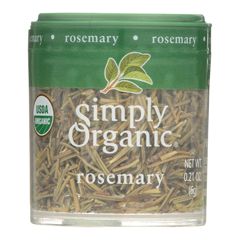 HGR0579136 - Simply Organic - Rosemary Leaf- Organic - Whole - .21 oz.. - Case of 6