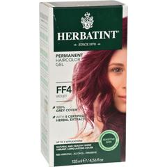 HGR0582338 - HerbatintPermanent Herbal Haircolour Gel FF4 Violet - 1 Kit