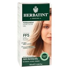 HGR0582353 - HerbatintPermanent Herbal Haircolour Gel FF5 Sand Blonde - 1 Kit