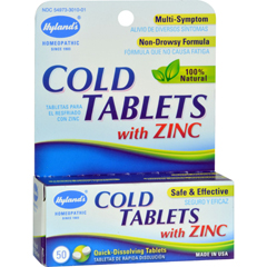 HGR0583989 - Hyland'sCold Tablets With Zinc - 50 Quick Disolving Tabl