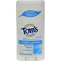 HGR0585653 - Tom's of MaineNatural Long-Lasting Deodorant Stick Unscented - 2.25 oz Each - Case of 6