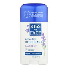 HGR0587675 - Kiss My FaceActive Life Deodorant Lavender - 2.48 oz