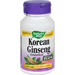 HGR0591545 - Nature's Way - Korean Ginseng Standardized - 60 Vcaps