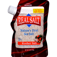 HGR0592774 - Real SaltGourmet Kosher Sea Salt - 16 oz - Case of 6