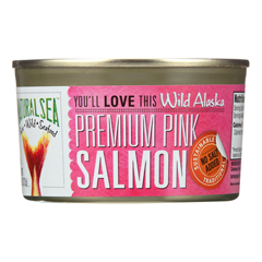 HGR0593426 - Natural Sea - Wild Pink Salmon - Unsalted - Case of 12 - 7.5 oz..