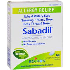 HGR0599068 - BoironSabadil Allergy - 60 Tablets