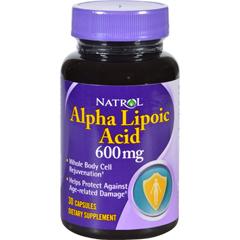 HGR0600395 - NatrolAlpha Lipoic Acid - 600 mg - 30 Capsules