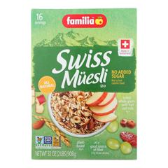 HGR0601708 - Familia - Swiss Muesli - Sugar Free - Case of 6 - 32 oz..