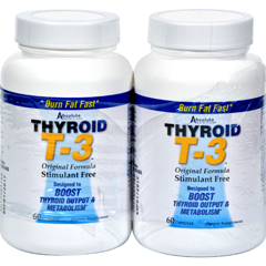 HGR0602193 - Absolute NutritionThyroid T-3 - 60 Capsules Each / Pack of 2